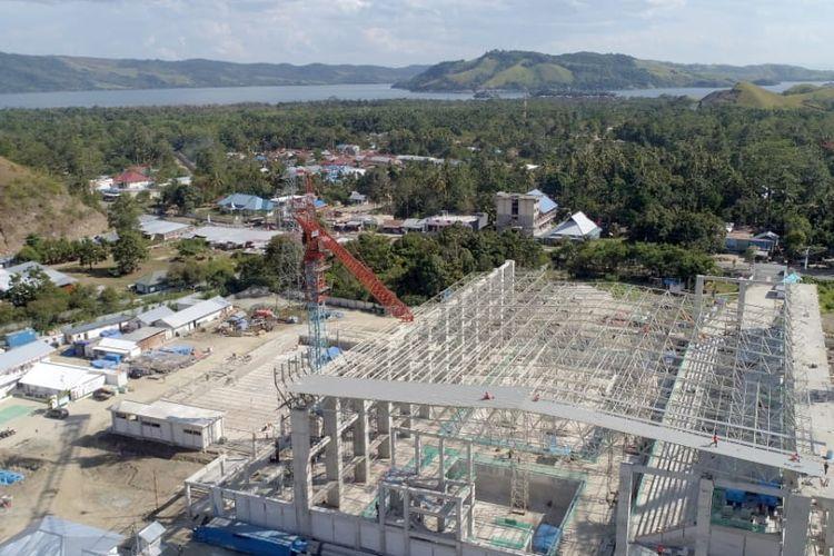 Proyek Aquatic Arena Papua yang dibangun PT Waskita Karya (Persero) Tbk di Jayapura, Papua.