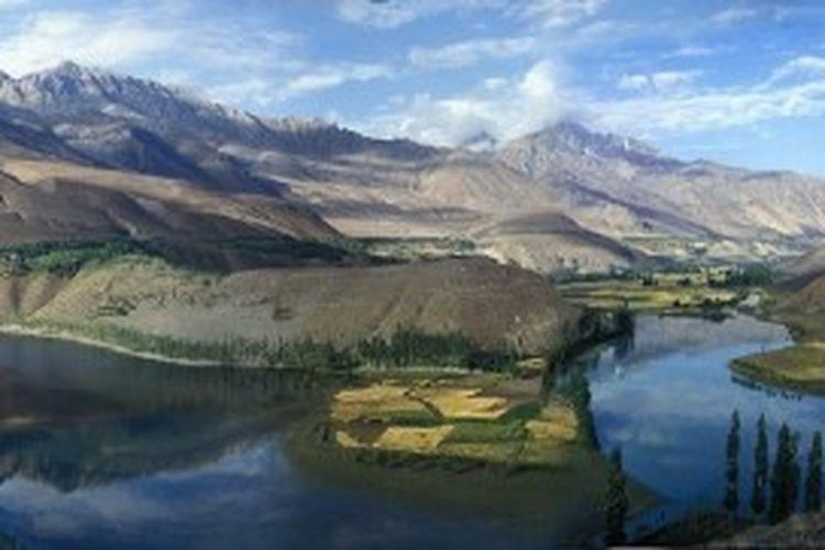 Pemandangan di Provinsi Gilgit Baltistan, Pakistan.