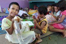 Gelak Tawa Pengungsi Korban Gempa dan Harapan untuk Bangkit