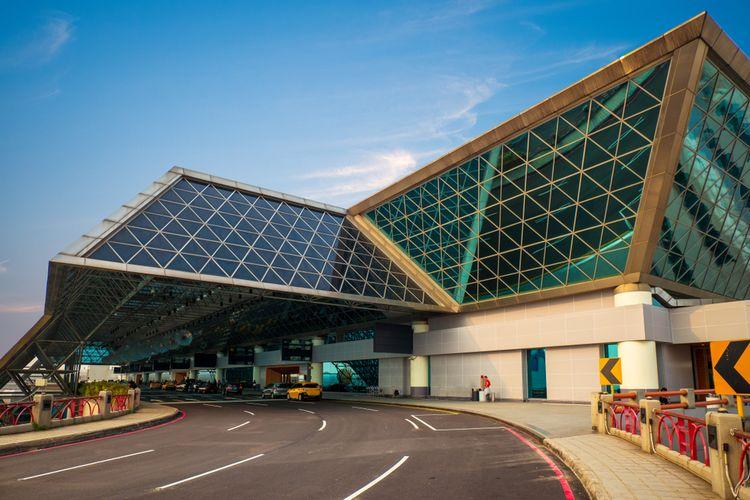 Bandara Internasional Taoyuan di Taiwan, yang disebut terbesar dan tersibuk di negara itu dan telah beroperasi sejak 1979.
