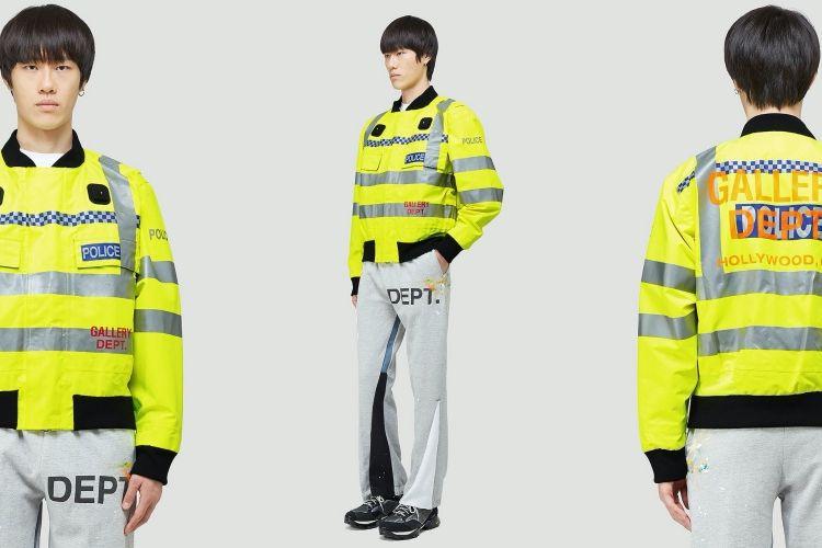 Jaket bomber terbaru dari Gallery Dept yang mirip dengan rompi polisi.
