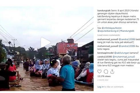 Tujuh Kecamatan Terendam Banjir di Kabupaten Bandung