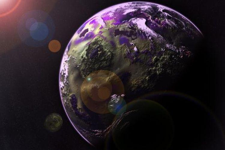 Ilustrasi planet Bumi, Hari Antariksa Nasional.