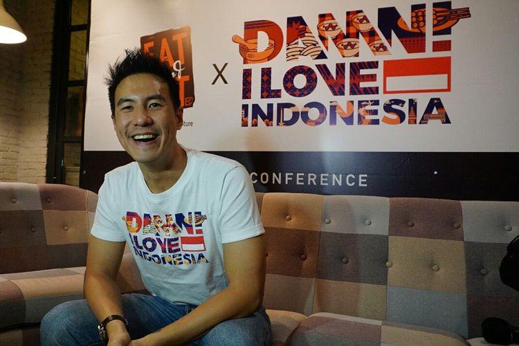 Presenter Daniel Mananta saat ditemui di kawasan Gandaria, Kebayoran Baru, Jakarta Selatan, Jumat (12/4/2019).