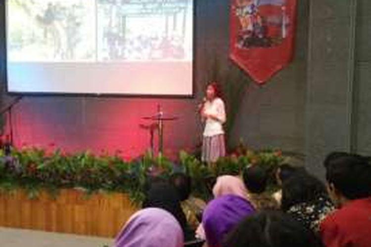 Buter Manurung hadir dalam acara Final Gramedia Reading Community Competition 2016 di Perpustakaan Nasional, Salemba, Jakarta Pusat, Sabtu (27/8/20116).