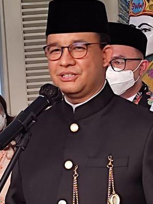 Gubernur DKI Jakarta Anies Baswedan saat ditemui di Balai Kota DKI Jakarta, Senin (24/5/2021)