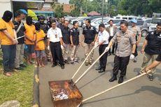 Ribuan Psikotropika dan Ratusan Gram Sabu Dimusnahkan di Halaman Polres Tangerang Kota
