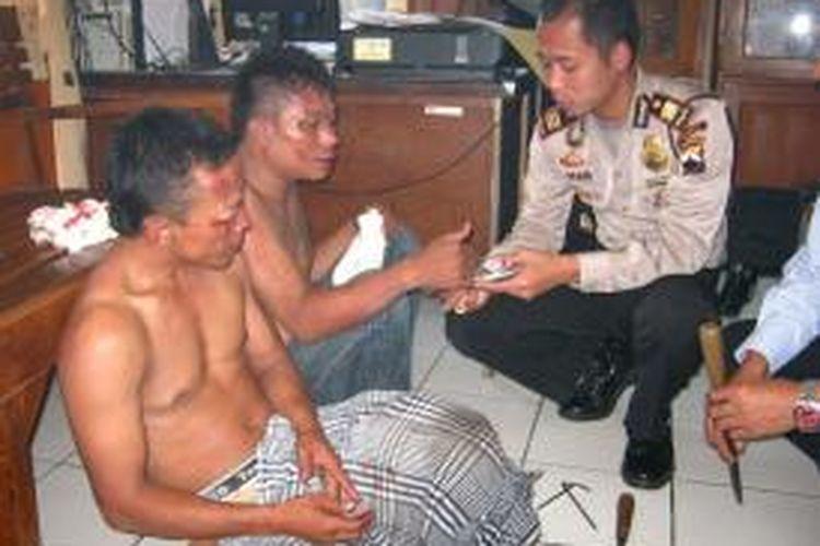 Kapolsek Kaliwungu, AKP. R. Dian, saat meminta keterangan pelaku