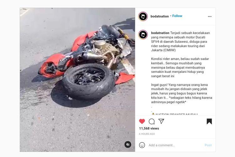 Ducati Streetfighter V4 alami kecelakaan