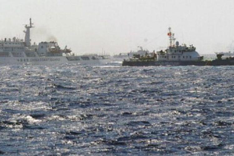 Vietnam dan Cina bersitegang atas sengketa perbatasan Laut Cina Selatan.