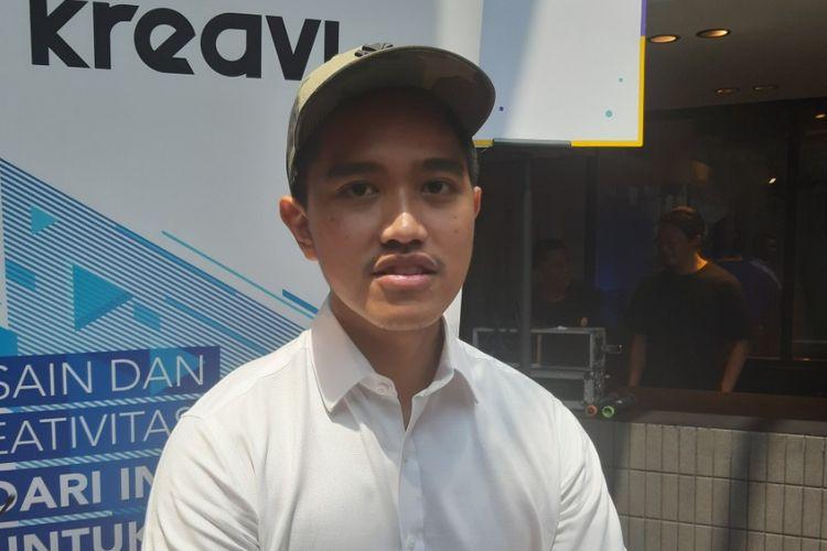 Kaesang Pangarep saat ditemui di acara Senyawa +, di M Bloc Space, Melawai, Jakarta Selatan, Minggu (3/11/2019).