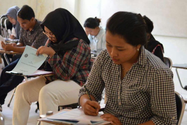 Pelaksanaan SBMPTN di Universitas Sriwijaya Palembang, Sumatera Selatan