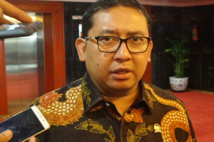 Wakil Ketua DPR RI Fadli Zon di Kompleks Parlemen, Senayan, Jakarta, Kamis (16/3/2017).