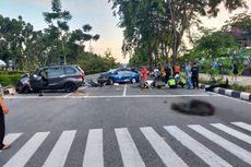 Mobil Tabrak Taksi dan Dua Sepeda Motor, Bahaya Mabuk Saat Berkendara