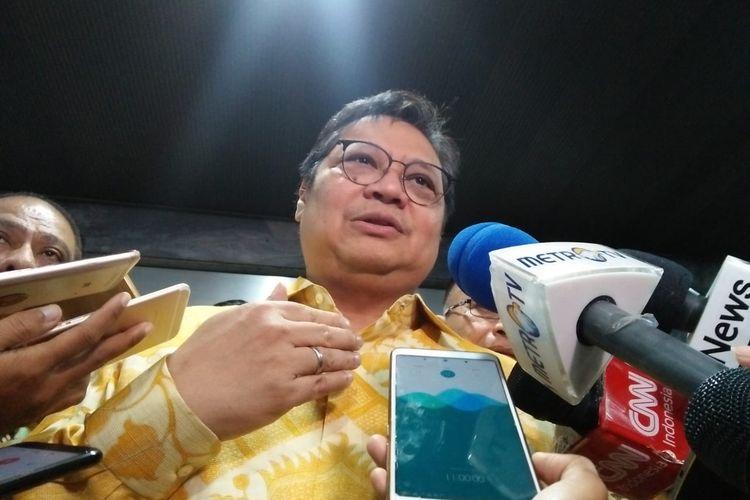 Ketua Umum Partai Golkar Airlangga Hartarto di Kompleks Parlemen, Senayan, Jakarta, Kamis (5/9/2019).