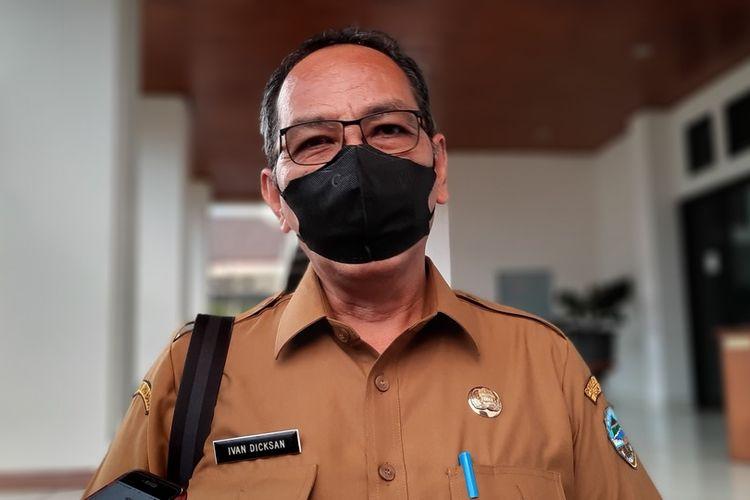 Sekretaris Daerah Kota Tasikmalaya Ivan Dicksan saat diwawancarai wartawan di Bale Kota Tasikmalaya, Senin (26/7/2021).