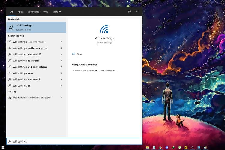 Cara melihat password wifi di PC dan laptop berbasis Windows 10 lewat fitur Wifi Settings.