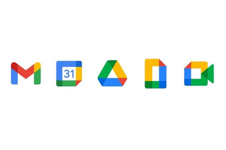 Desain ikon beberapa aplikasi Google yang diperbarui.