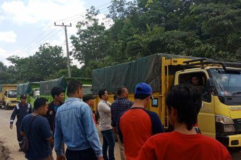 Kesal karena Jalan Rusak Tak Diperbaiki, Warga Hadang Truk di Jalan Lingkar Prabumulih