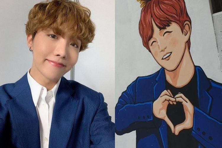 J-Hope BTS dibuatkan mural di hari ulang tahunnya pada 18 Februari 2020