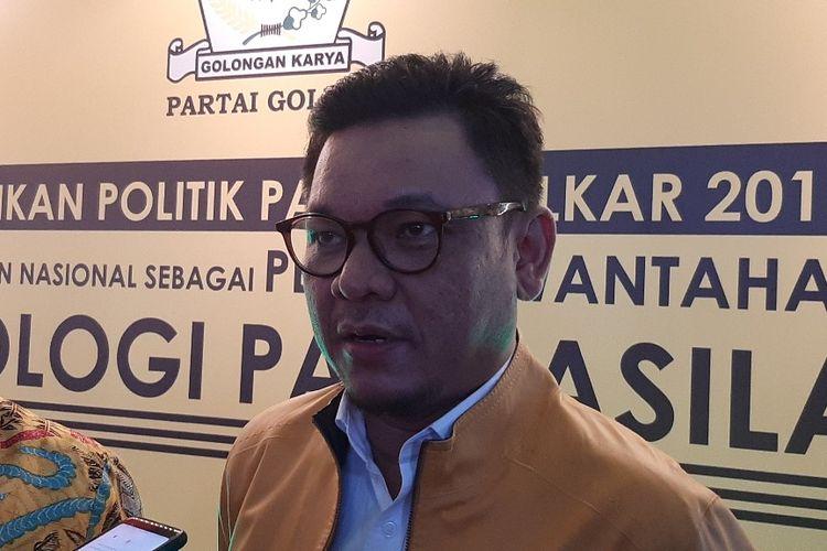 Ketua DPP Partai Golkar Ace Hasan Syadzily di sela-sela acara Pendidikan Politik Partai Golkar di Hotel Merlynn Park, Jakarta, Sabtu (30/11/2019).