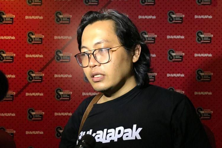 CEO Bukalapak, Achmad Zaky di acara ulang tahun ke-8 Bukalapak di Jakarta, Rabu (10/1/2018).