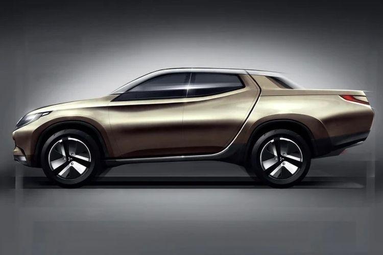 Sketsa Mitsubishi Triton generasi baru