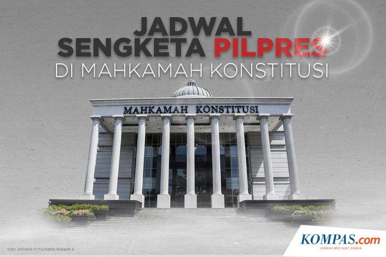 Jadwal Sengketa Pilpres di Mahkamah Konstitusi