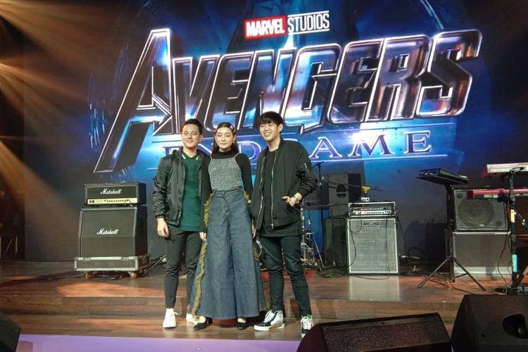 (Kiri ke kanan) Billy Davidson, Patricia Devina, dan Tommy Lim di The Pallas, SCBD, Jakarta Selatan, Senin (22/4/2019).