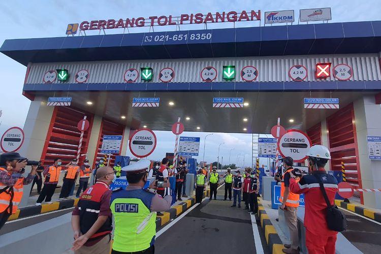 Pengoperasian seksi 1A sisi barat dan seksi 1B tol Bekasi ? Cawang ? Kampung Melayu (Becakayu).