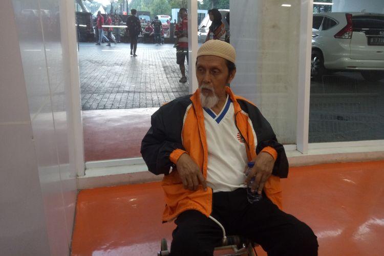 Sofyan Hadi saat ditemui di Stadion Utama Gelora Bung Karno usai laga Persija Jakarta vs Persib Bandung, Rabu (10/7/2019). Sofyan adalah pelatih Persija saat menjadi juara Liga Indonesia tahun 2001.