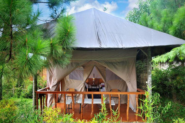 Tenda landak di Sari Ater Hotel & Resort