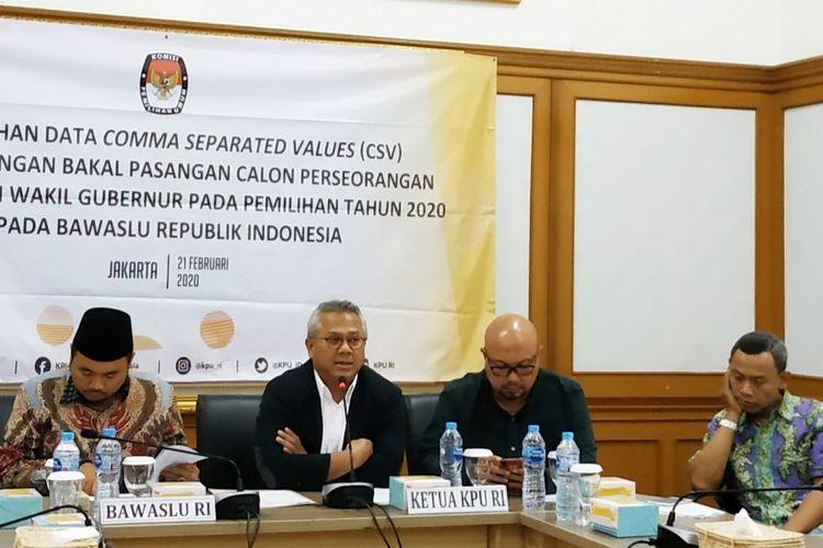 Ketua KPU Arief Budiman di Kantor KPU, Menteng, Jakarta Pusat, Jumat (21/2/2020).