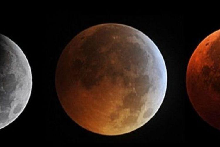 Ilustrasi fase gerhana bulan pada 2010. [AFP VIA BBC INDONESIA]