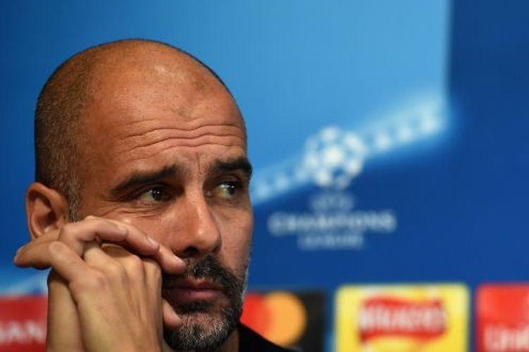 Pep Guardiola masih belum bisa membawa kejayaan bagi Manchester City di ajang Liga Champions, Sabtu (20/4/2019)