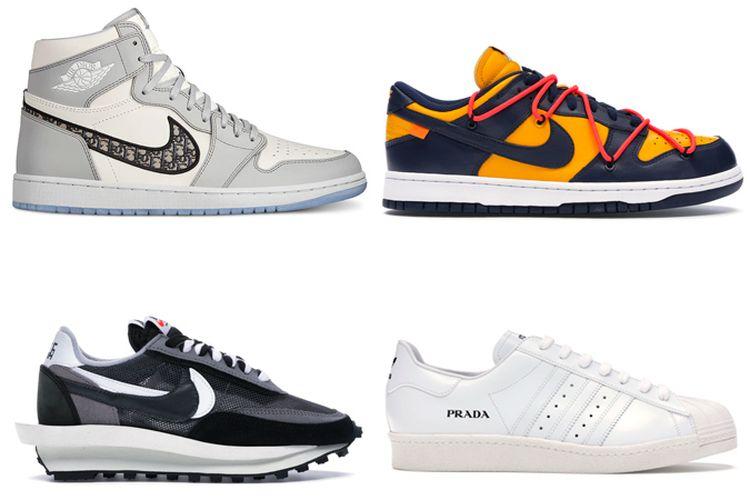 Ilustrasi sneakers tren
