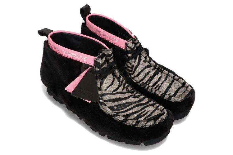 Clarks Originals X Atmos Tokyo Wallabee Black Tiger