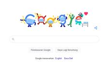 Pencegahan Covid-19, Google Doodle Hari Ini Bermasker dan Jaga Jarak