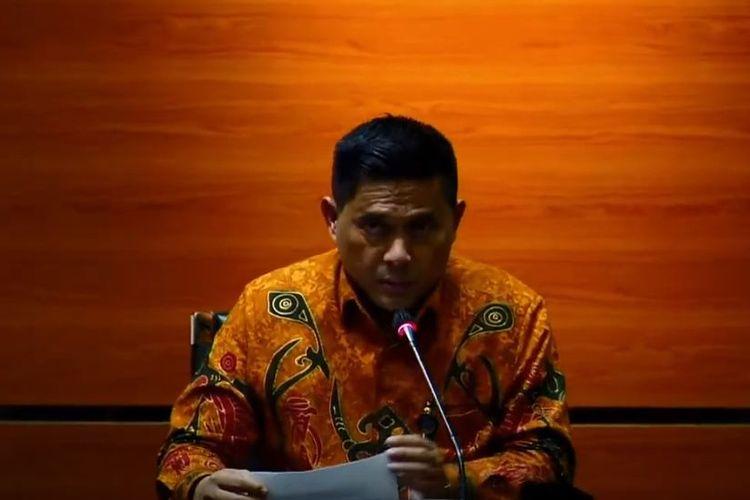 Deputi Penindakan KPK, Karyoto dalam konferensi pers penetapan tersangka mantan Bupati Talaud.