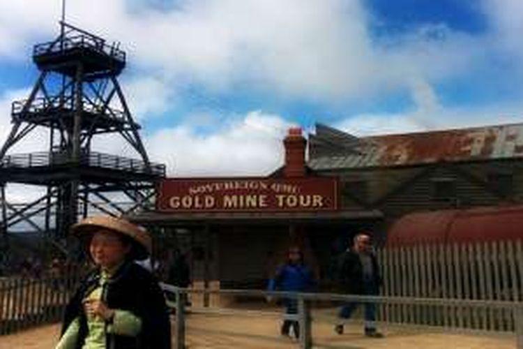 Museum Sovereign Hill dirancang serupa dengan kota para penambang emas di masa lampau.