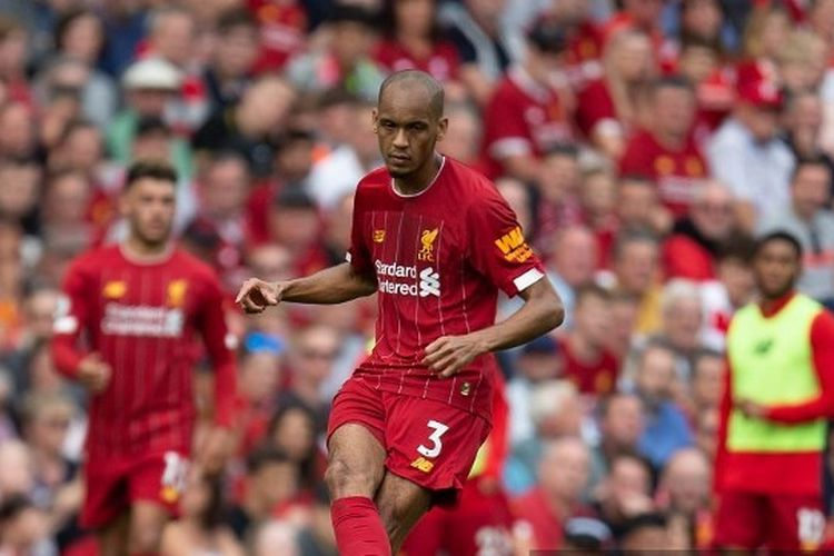 Fabinho of Liverpool during the Premier League match between Liverpool and Newcastle United at Anfield, Liverpool on Saturday 14th September 2019. (Photo by Alan Hayward/MI News/NurPhoto) MI News / NurPhoto