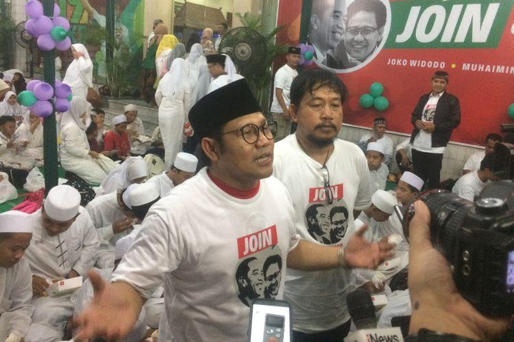 Ketua Umum Partai Kebangkitan Bangsa (PKB) Muhaimin Iskandar saat mengadiri acara buka puasa bersama di Kantor DPP PKB, Jakarta, Senin (4/6/2018).