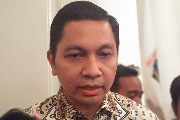 Direktur Operasional PT Transjakarta Daud Joseph di Balai Kota DKI Jakarta, Jumat (9/11/2018).