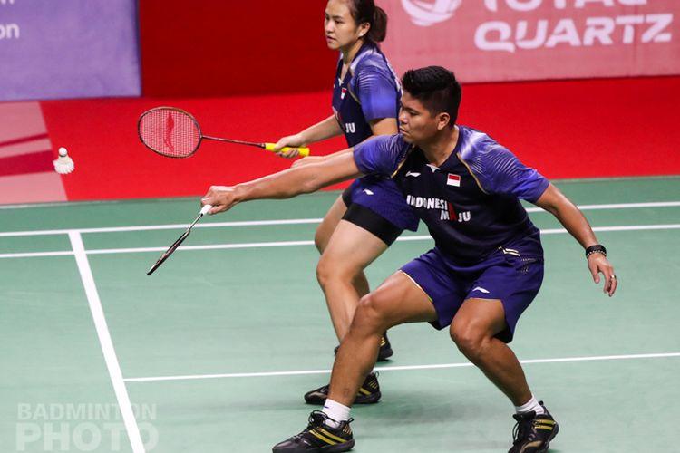 Praveen/Melati saat bertanding melawan Dechapol Puavaranukroh/Sapsiree Taerattanachai di final Yonex Thailand Open 2021 di Impact Arena, Minggu (17/1/2021) siang WIB.