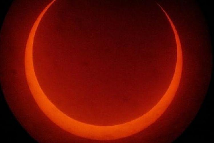 Gerhana Matahari pada Cincin 26 Januari 2009 dipotret dar Anyer.