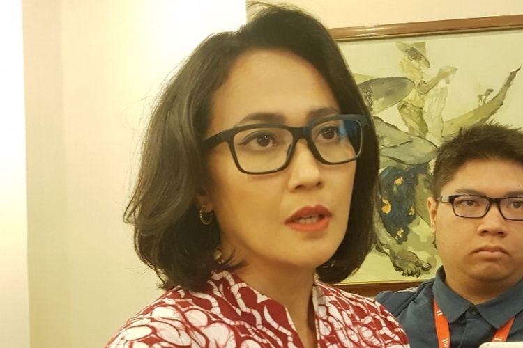 Christina Aryani saat diwawancara usai mengisi diskusi CSIS bertajuk 'Anggota DPR Baru yang Muda: Apa yang Bisa diperbuat?' di Kantor CSIS, Jakarta Pusat, Kamis (29/8/2019).
