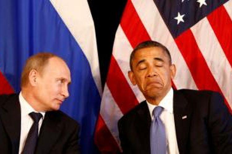 Presiden Rusia, Vladimir Putin dan Presiden AS, Barack Obama.