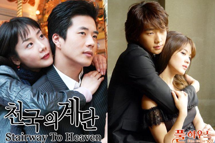 Poster drama Korea lawas Stairway to Heaven (2003) dan Full House (2004)