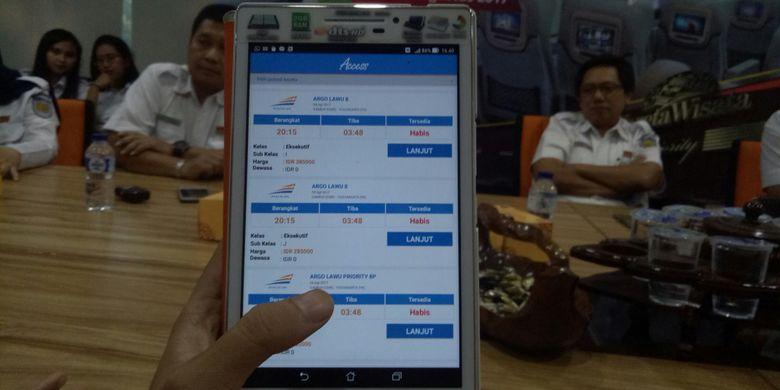 Cara memesan tiket KA Wisata Priority lewat aplikasi KAI Access.