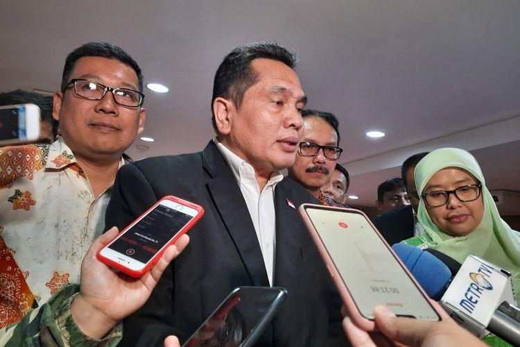 Ketua Umum Dewan Pengurus Daerah Himpunan Pengusaha Pribumi Indonesia (HPPI) DKI Jakarta Sarman Simanjorang di Hotel Sofyan, Cikini, Jakarta Pusat, Selasa (17/12/2019).